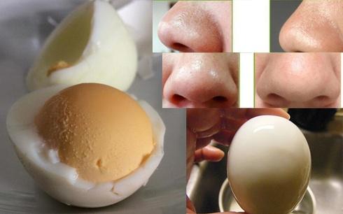 Cách trị mụn đầu đen trên mũi bằng trứng luộc